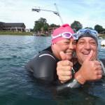 Looked like you both enjoyed Ironmate Marks openwater swim coaching session