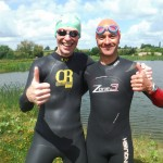 Mervyn enjoyed and improved his open water swimming skills with Mark's open water swim coaching before his Olympic distance triathlon